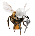 hard working bee
